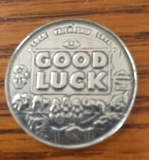 "Good Luck Pocket Coin - Lucky Mojo  ""Carry This Coin"" Solid Pewter New!!!"