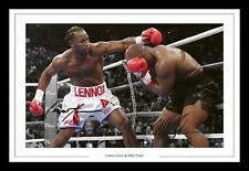 LENNOX LEWIS & MIKE TYSON AUTOGRAPHED SIGNED & FRAMED PP POSTER PHOTO