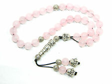0130 - Beautiful Prayer Worry Beads Tasbih 8mm Rose Quartz Gemstone Beads