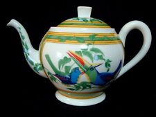 "Authentic  HERMES   Tea pot  ""Toucans"""