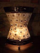 Lampe Perlmutt Metall Beleuchtung Wohnzimmer Dekoration Unikat  Indonesien Bali