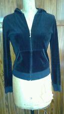 Juicy Couture Black Velvet Track Jacket Sz Med