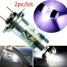 2x/Lot 100W Förderung H7 LED Bulb 20SMD Cree Car Fog Light DC 12V~24V Lampe Weiß