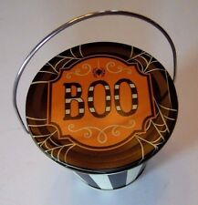 Metal Boo Spider Halloween Mini Candy Bucket Containers Autumn Trick or Treat