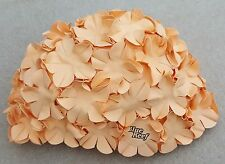 BLUE REEF Vintage Style Classic Swimming Hat Flower Petal 1 Colour Peach