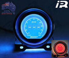 Blue/Red Evo Electronic Digital PSI Boost Gauge 52mm LCD SMOKE FACE 35 PSI
