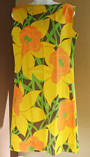 Vintage 70's Park East Shift Dress By Swirl Crepe Fabric Floral Mod Sz 14 Lg