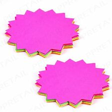 40 Large Shop Colour Display Tags ASSORTED NEON Market Stall/Car Boot Sale Price