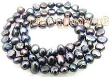 "SALE small 5-6mm Natural Black Freshwater BAROQUE Pearl Loose Beads 14""-los456"