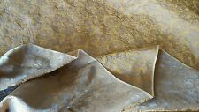 "Copper & Orange Antique Satin Fabric!! Brocade! 481/2"" Wide!!  Sold by the yard!"