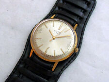 POLJOT 1-MChZ VINTAGE USSR RUSSIAN AMAZING ULTRA SLIM GOLD PLATED Men's WATCH