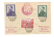 DDR Briefmarken Brief 1951 Deutsch- Chinesische Freundschaft Mi. 286, 287, 288
