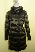 BCBG MAX AZRIA Asymmetrical Zip Wide Collar Down Puffer Jacket Coat S Loden