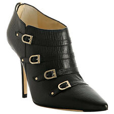 AUTHENTIC JIMMY CHOO KAISER BUCKLE ANKLE BOOTS SZ 37 RRP $1395 WORN TWICE ONLY !