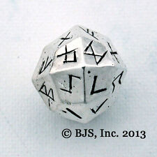 Elder Futhark Rune Dice, Silver Norse Die, Rune Casting, New Viking Rune Jewelry