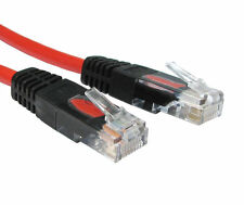 15m Rj45 Cable Cruzado Cat5e Red Ethernet Plomo X En Cruz Con Cable-Rojo