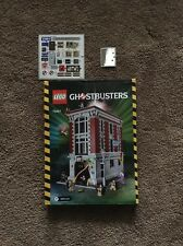 Lego Ghost Buster Firehouse Headquarters Instruction Book With Some Stickers