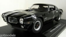 Nex 1/18 Scale 12566W 1972 Pontiac Firebird Trans Am Black Diecast model car