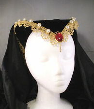 Attifet STYLE French Hood for Renaissance Tudor Medieval Dress Gown Headpiece