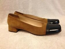 Salvatore Ferragamo boutique suede heels slip on shoes ladies size 8 4A  Nice!