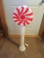 VINTAGE RED LOLLIPOP 33 INCHES BLOW MOLD HOLIDAY CHRISTMAS YARD DECOR