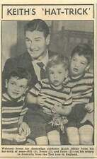 1953 Australian Cricketer Keith Miller Welcomed Home By Bill Dennis And Peter