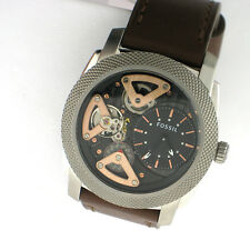 Fossil Twist Machine Watch Me1157 Leather Stainless Steel Mens Watch Automatic
