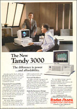1986 vintage Computer AD TANDY 3000 PC Ms Dos 3.1  (082915)