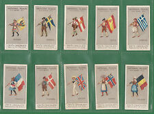 J.  S.  FRY  &  SONS  LTD. -  RARE  SET  OF  15  NATIONAL  FLAGS  CARDS  -  1908