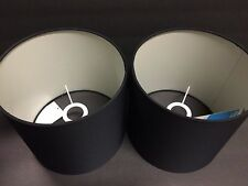 "2 Fabric Cylinder Lamp Shade For Table Lamp / Floor Lamp New 8.5"" x 8.5"" x 8"""