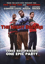 THE NIGHT BEFORE 2016 DVD USA COMPLETE IN BOX MOVIE FREE SHIPPING