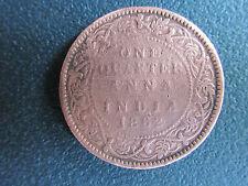 ONE QUARTER ANNA OF 1862 - VICTORIA QUEEN  - ** COPPER COIN **......