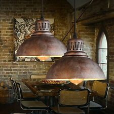 Industrial Shade Pendant Lamp Retro Vintage Iron Loft Ceiling Light Bar Cafe