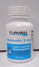 PlusPharma Melatonin 3mg 60ct  Exp. Date 01-2019