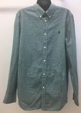 Ralph Lauren Boys Oxford Shirt Green & Navy Plaid XL Size 18-20