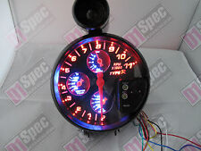 TACHOMETER 4IN1 RPM SHIFTING LIGHT OIL PRESSURE WATER/OIL TEMP AUTO GAUGE BLACK