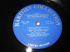 Vivaldi Il Cimento Dell' Armonia E Dahinden Record Hunter Rarities Collection LP
