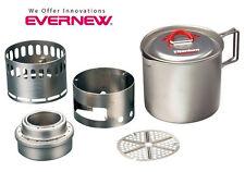 Evernew Titanium Alcohol Stove / Appalachian Mug Pot 500 Cook Set ECA268