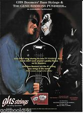 GHS Strings Bass Boomers / Punisher - Kiss Gene Simmons - 1996 Ad