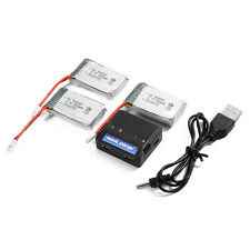3x 3.7V 800mAh 25C Lipo Battery + 4 Ports Charger for MJX X705C Quadcopter BC589