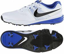 Nike Lunar Command Golf Shoes 704427-102 White/Blue /Black Mens Sz 11.5 WIDE