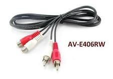 6ft 2-RCA Male to 2-RCA Female Red/White Extension Cable, CablesOnline AV-E406RW