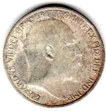 1910 6d SIXPENCE six pence King Edward VII (a)