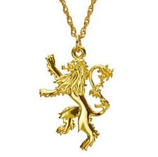 Game of Thrones Gold Plated Lannister Badge Lion Pendant Chain Necklace Cosplay