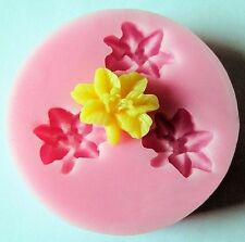 Lily Flower 3 Cavity Minii Silicone Mold for Fondant, Gum Paste, Chocolate