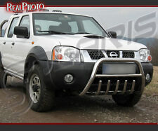 NISSAN PICKUP 02-05 BULL BAR WITH AXLE BARS +GRATIS!!! STAINLESS STEEL!