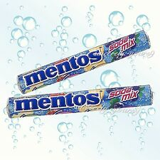NEW 2 Rolls MENTOS Chewy Dragees Candy SODA MIX Flavor 37g.
