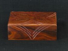 Inlaid Brass Hand Crafted Hinged Lid Cut Through Large Scent Trinket Stash Box