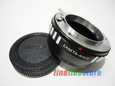 Adapter for Exakta EXA Lens to Micro 4/3 M4/3 E-P1 E-P3 E-PL2 E-PM1 G1 G3 + CAP