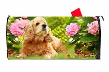 Cocker Spaniel Dog Vinyl Magnetic Mailbox Cover  Made in the USA